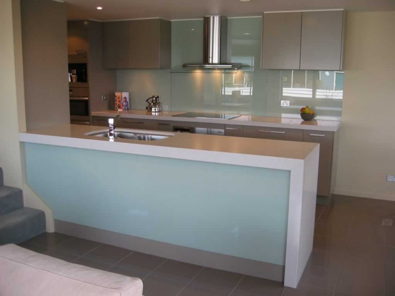 Engineered Stone Kitchen Benchtops With Waterfall Edge, Private Residence
